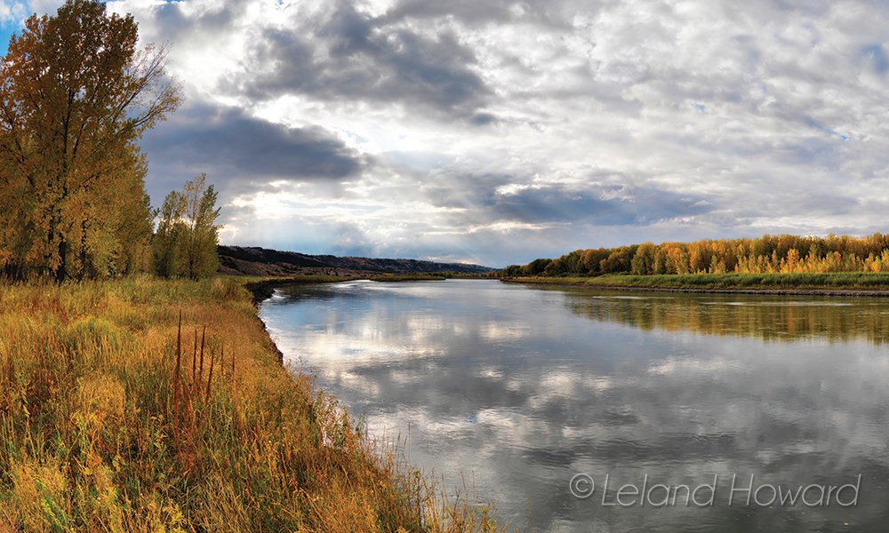 Missouri River in autumn